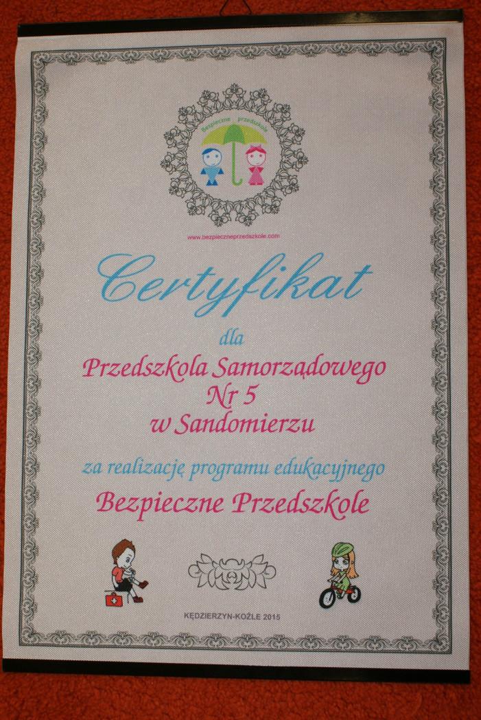 Certyfikat B.P.